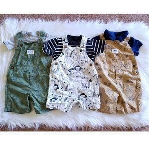 Carter's 2 Piece Overall Sets Size 18 Months